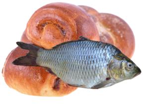 Рыба и булки